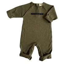Broer & Zus Baby boxpak Amsterdam sweatstof kaki