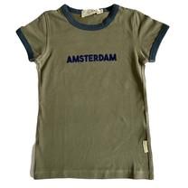 Broer & Zus T-shirt Amsterdam kaki biesje