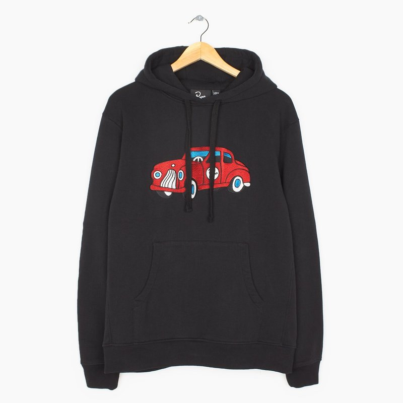 BY PARRA TOY CAR HOODED SWEATER