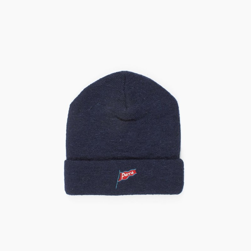 BY PARRA FLAPPING FLAG NAVY BEANIE