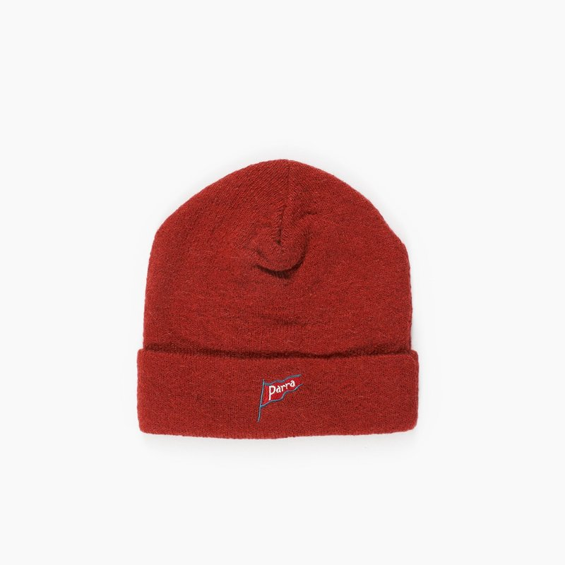 BY PARRA FLAPPING FLAG BURNT ORANGE BEANIE
