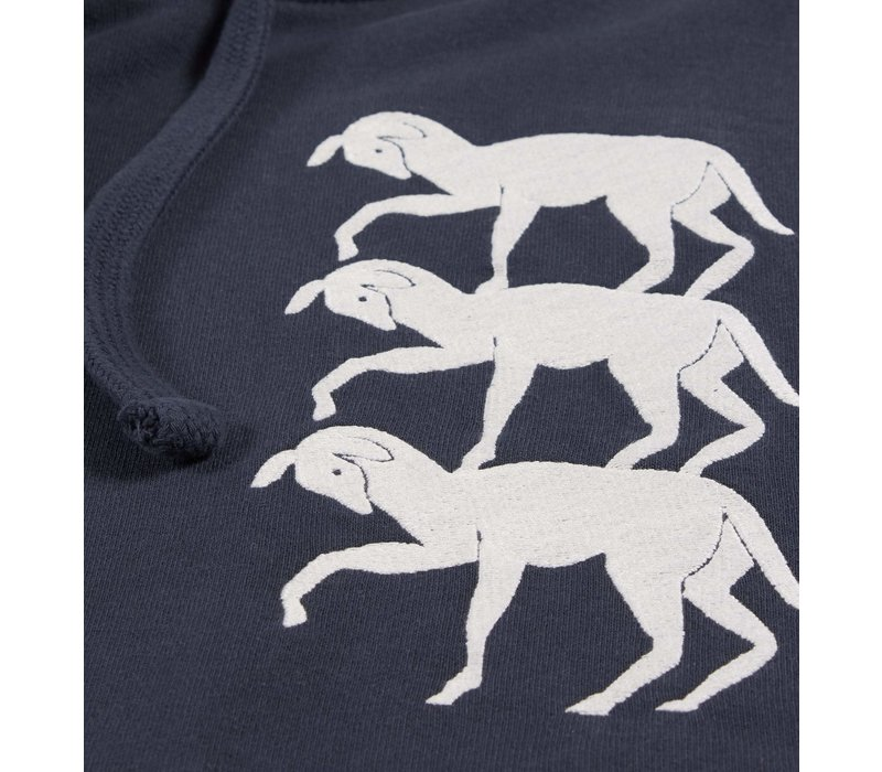 STACKED GOATS HOODED SWEATER