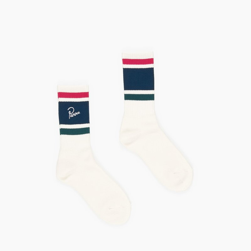 BY PARRA STRIPED CREW SOCKS