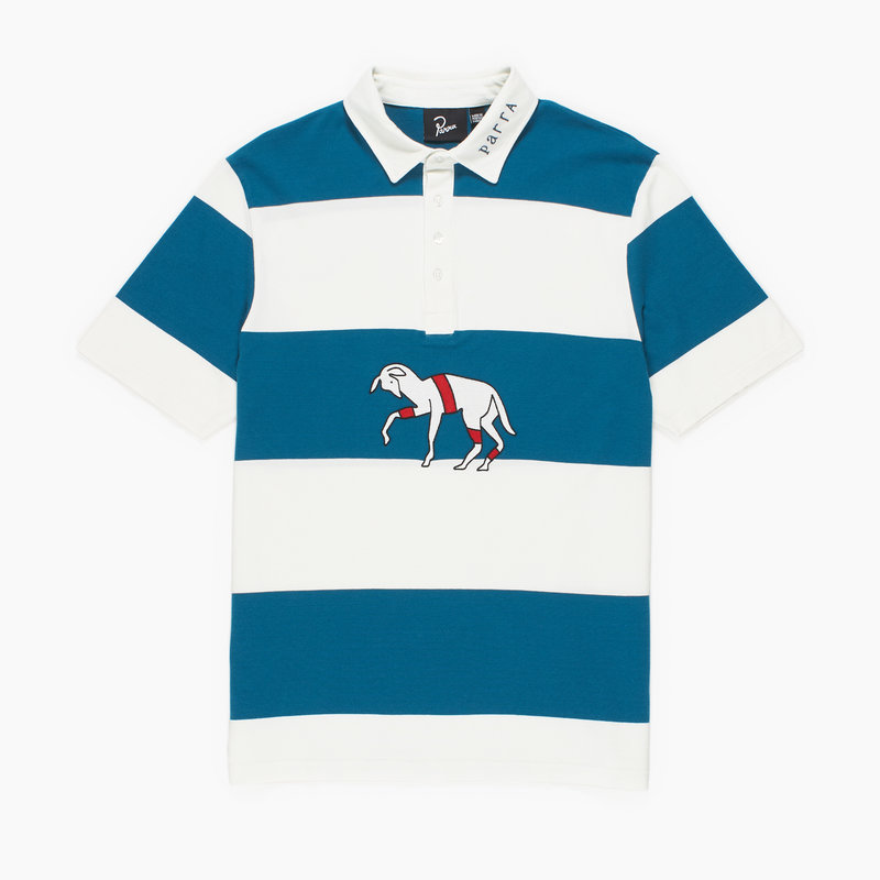 BY PARRA STRIPED GOAT POLO SHIRT MULTI