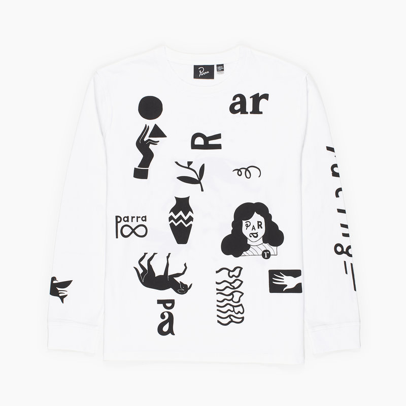 BY PARRA A LITTLE PRESSURE LONGSLEEVE WHITE