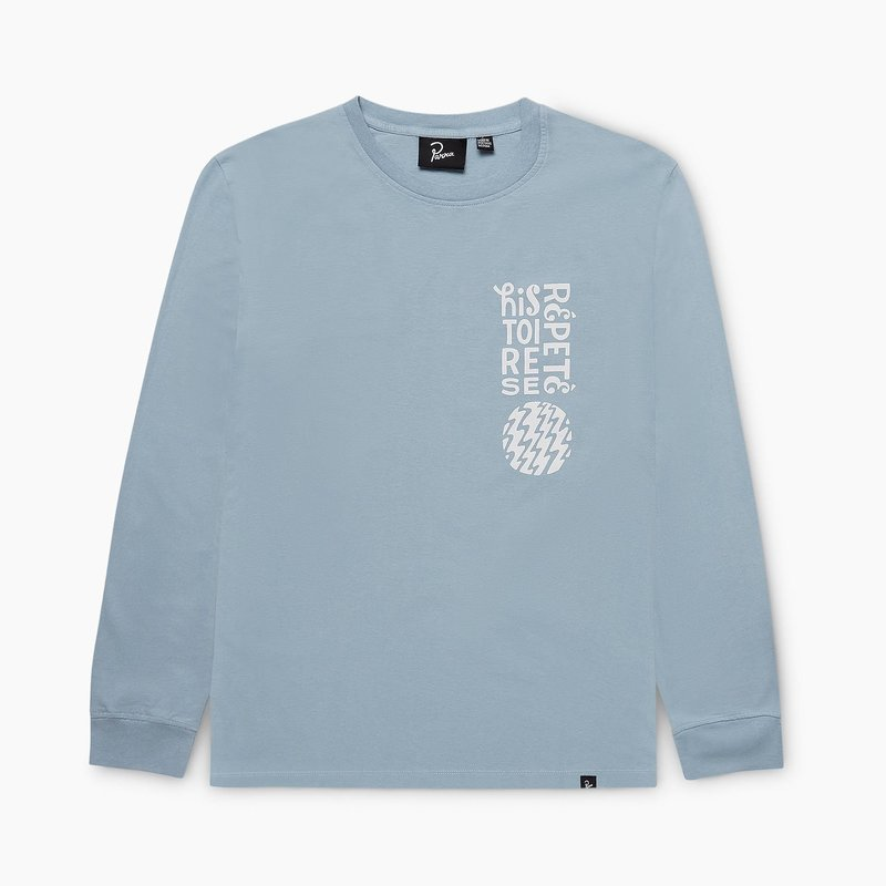 BY PARRA HISTOIRE DUSTY BLUE LONG SLEEVE