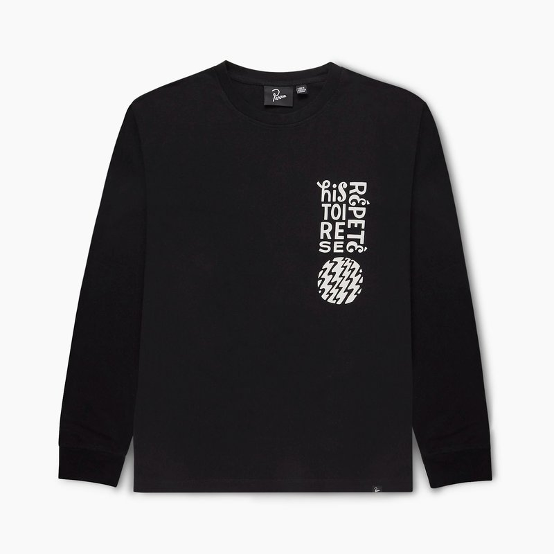 BY PARRA HISTOIRE BLACK LONG SLEEVE