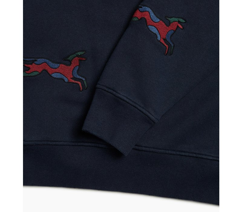 JUMPING FOX CREW NECK NAVY