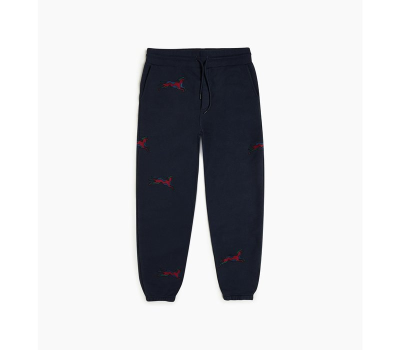 JUMPING FOX SWEAT PANTS NAVY BLUE