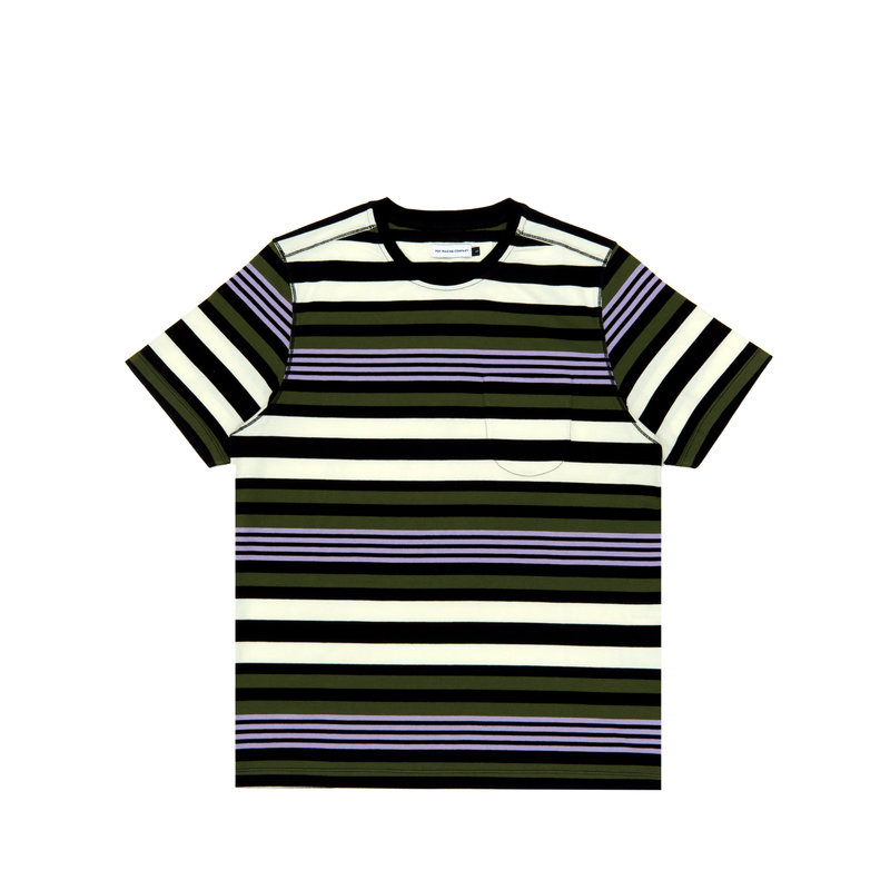 POP TRADING COMPANY STRIPED POCKET T-SHIRT