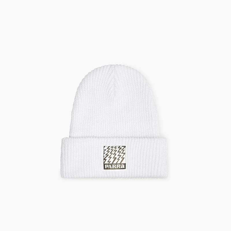 BY PARRA STATIC BEANIE WHITE
