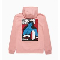 BY PARRA LOST ALL WILL FAST PINK HOODIE