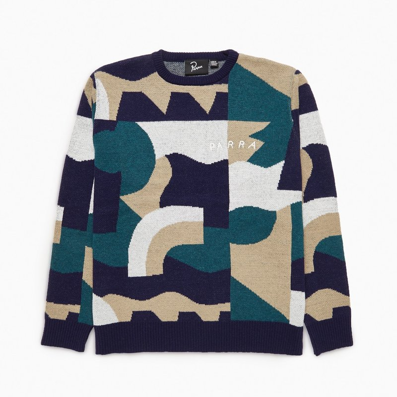 BY PARRA BY PARRA CITY PLANNING PREMIUM KNITTED PULLOVER MULTI SWEATER