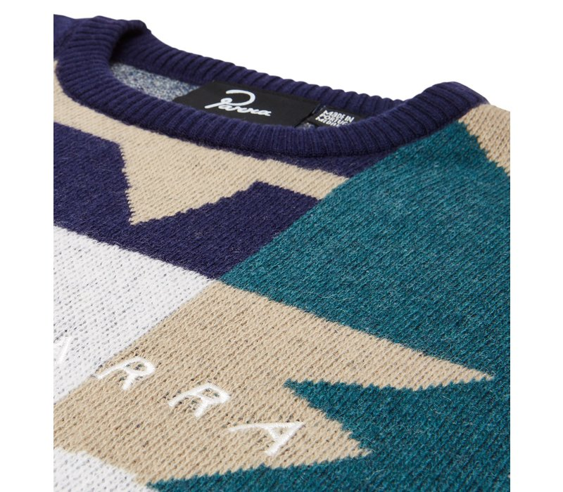 BY PARRA CITY PLANNING PREMIUM KNITTED PULLOVER MULTI SWEATER