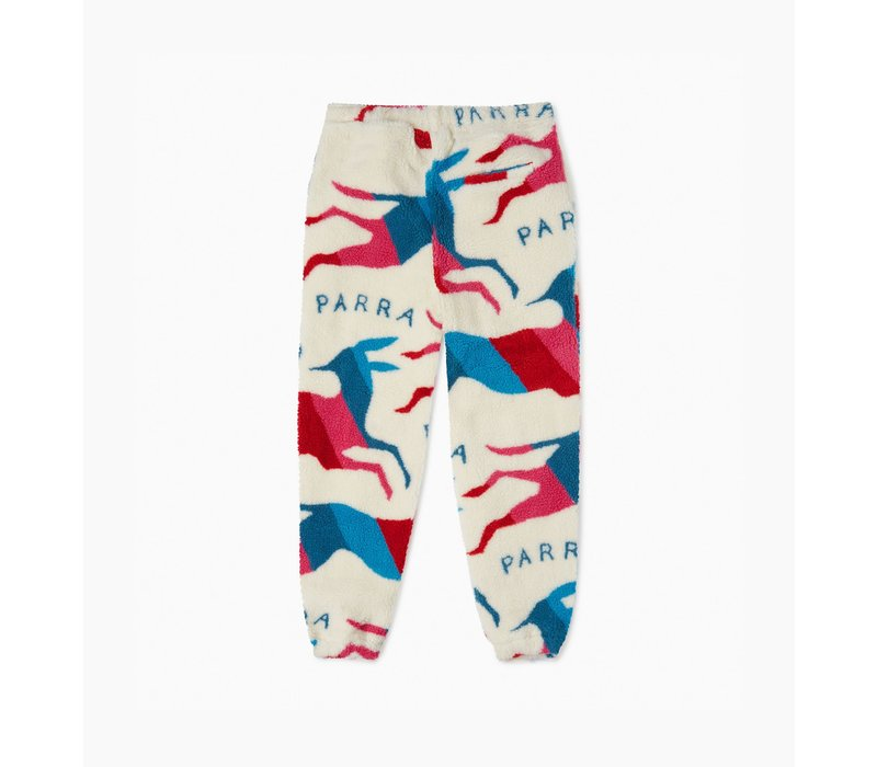 BY PARRA JUMPING FOXES SHERPA FLEECE PANTS