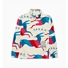 BY PARRA BY PARRA JUMPING FOXES SHERPA FLEECE PULLOVER
