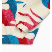 BY PARRA JUMPING FOXES SHERPA FLEECE PULLOVER