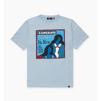 CONGRATS T-SHIRT DUSTY BLUE
