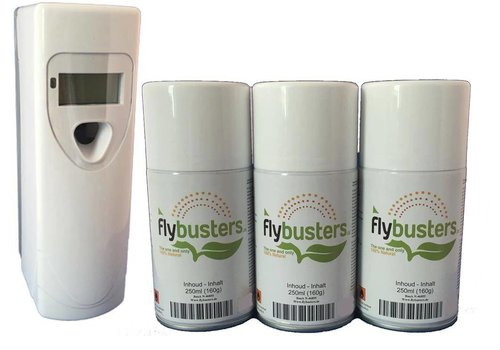 Flybusters LCD Dispenser Starter Set avec 3 recharges