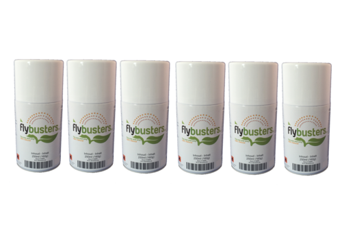 6 navullingen Flybusters spray (250 ml)