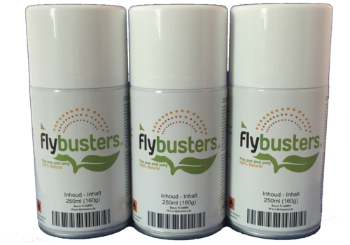 3 navullingen Flybusters spray (250 ml)