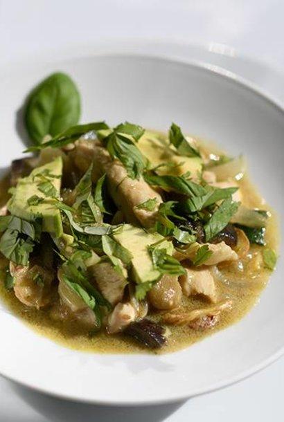 Suprême de poulet au curry vert
