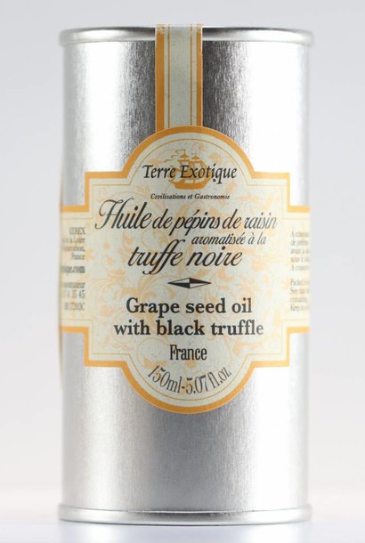 Grape seed oil flavored with truffles
