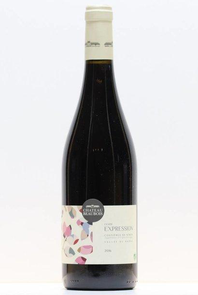 Vin Rouge Costière de Nîmes Château Beaubois Expression 2016