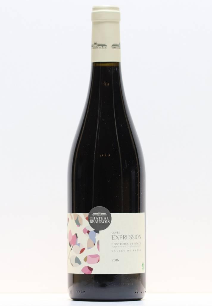 Vin Rouge Costière de Nîmes Château Beaubois Expression 2016-1