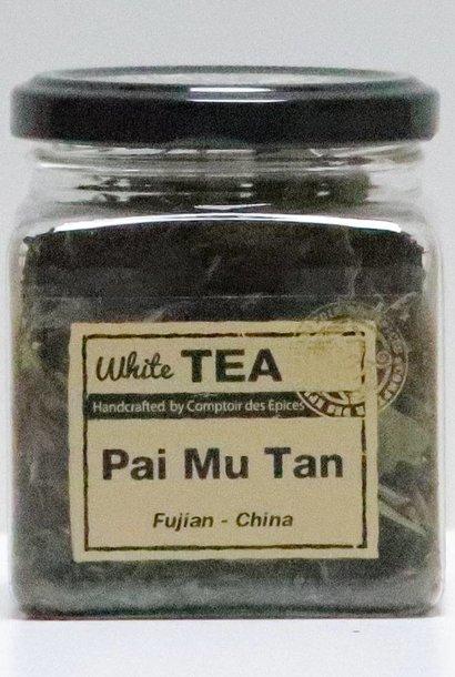 Thé blanc Pai Mu Tan Thé à grandes feuilles non roulées (Province de Fujian – Chine)
