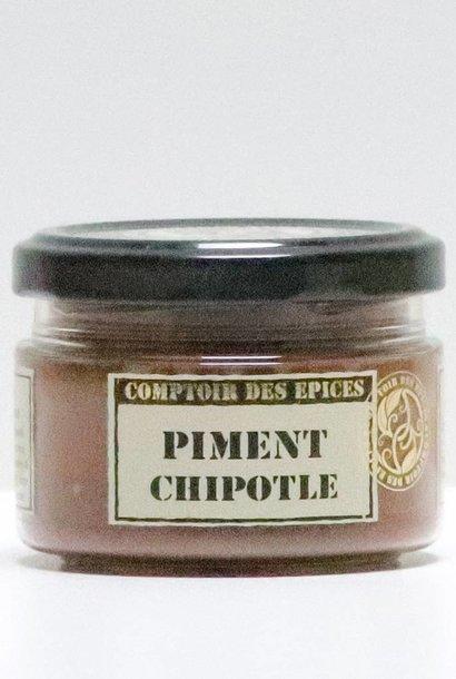 Piment chipotle  ou ( Piment «Jalapeno» moulu moyennement fort et fumé - 8.000 SHU (Mexique))