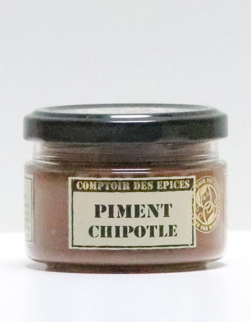Piment chipotle  ou ( Piment «Jalapeno» moulu moyennement fort et fumé - 8.000 SHU (Mexique))-1