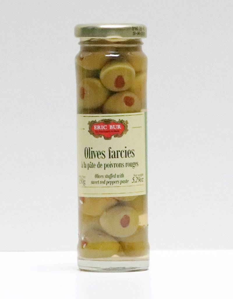 Olives farcies à la pâtes de poivrons rouges 95G-1