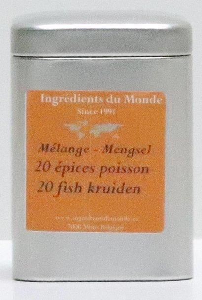 Mélange 20 épices poisson 60 gr