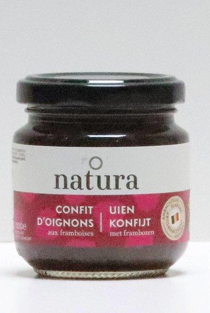 Confit d'oignon aux framboises - Uien konfijt met frambozen 150g