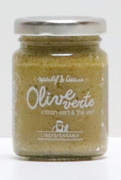 Pâte d'olives vertes citron vert et thé vert 90G
