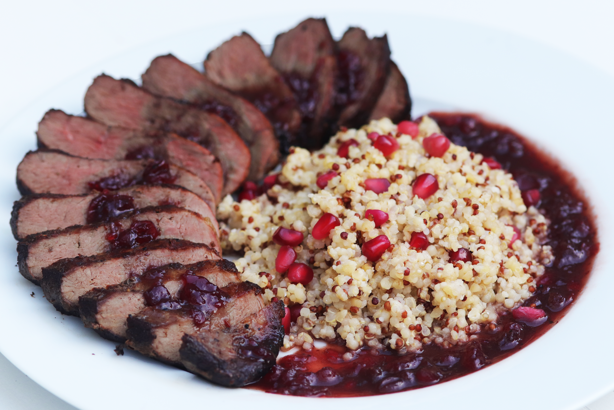 Duck breast with cranberries-1