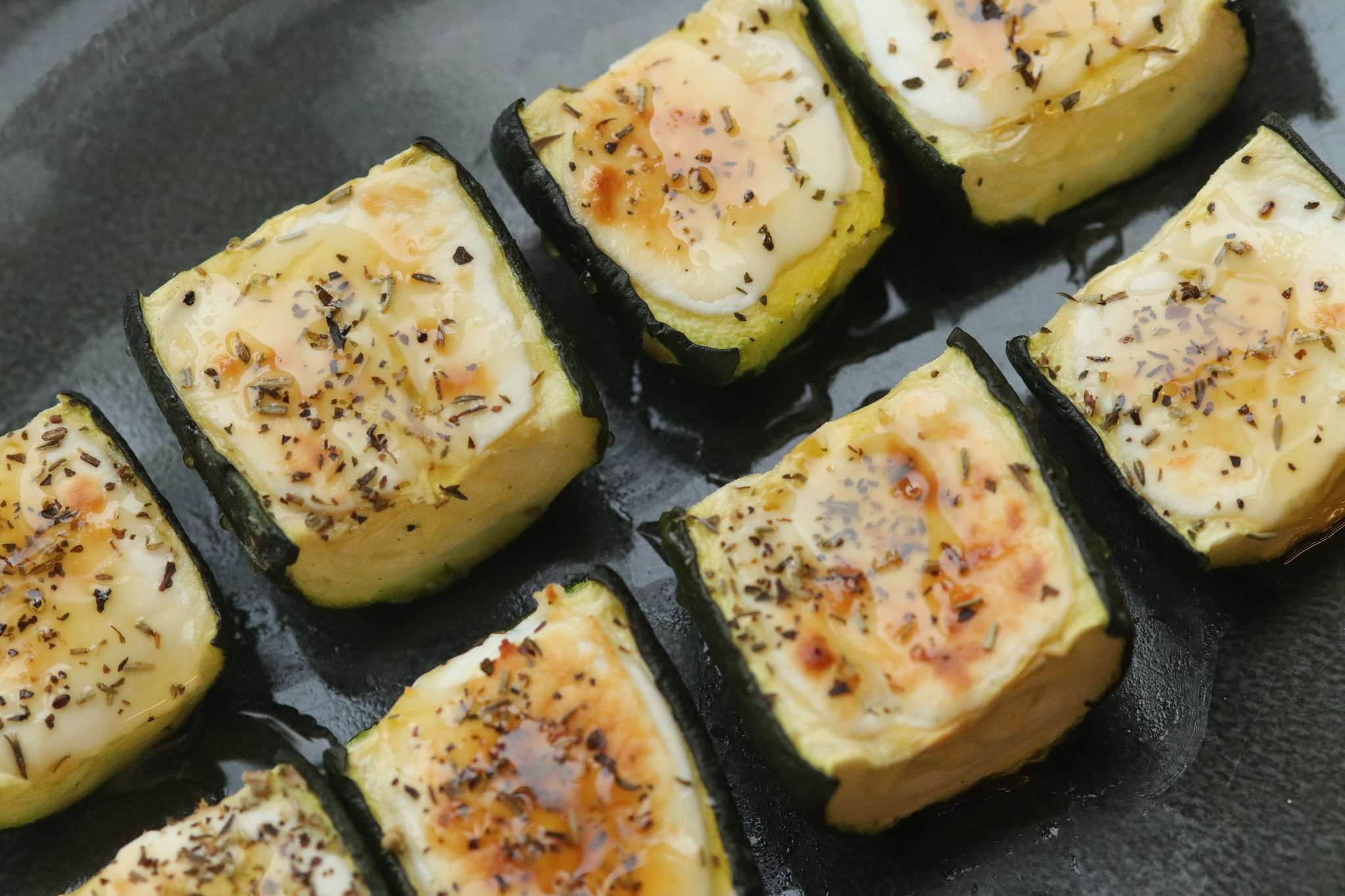 Zucchini with goat cheese and honey-1
