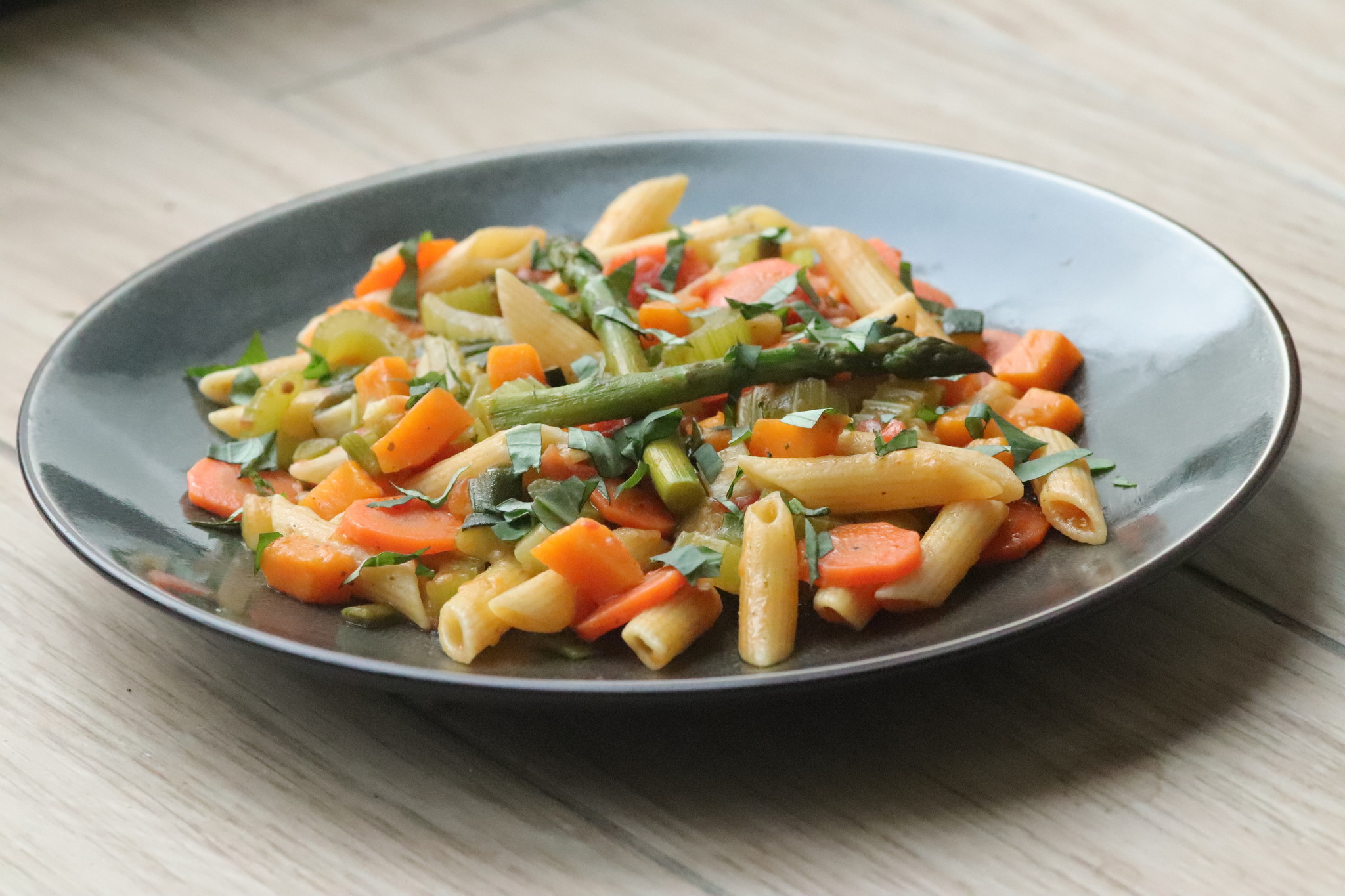 Penne sauteed with vegetables-1
