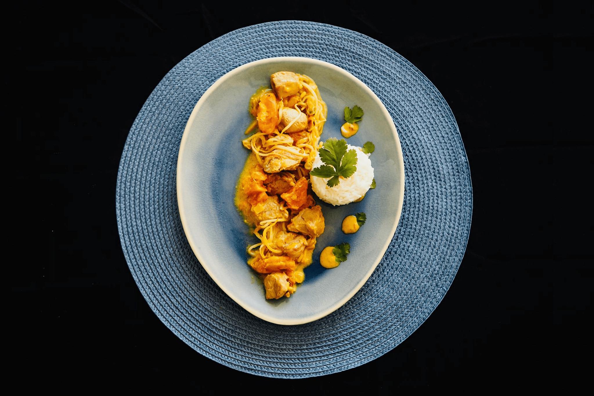 Curry de dinde au lait de coco-1