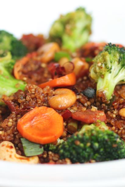 Quinoa sauté aux légumes