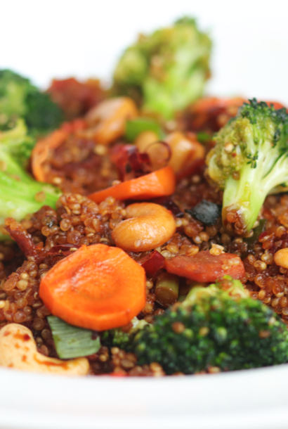 Sauteed quinoa with vegetables