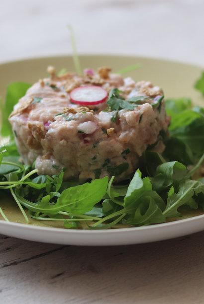 Tuna tartar with tamara cream