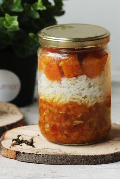 Dahl de légumes au potimarron et curry