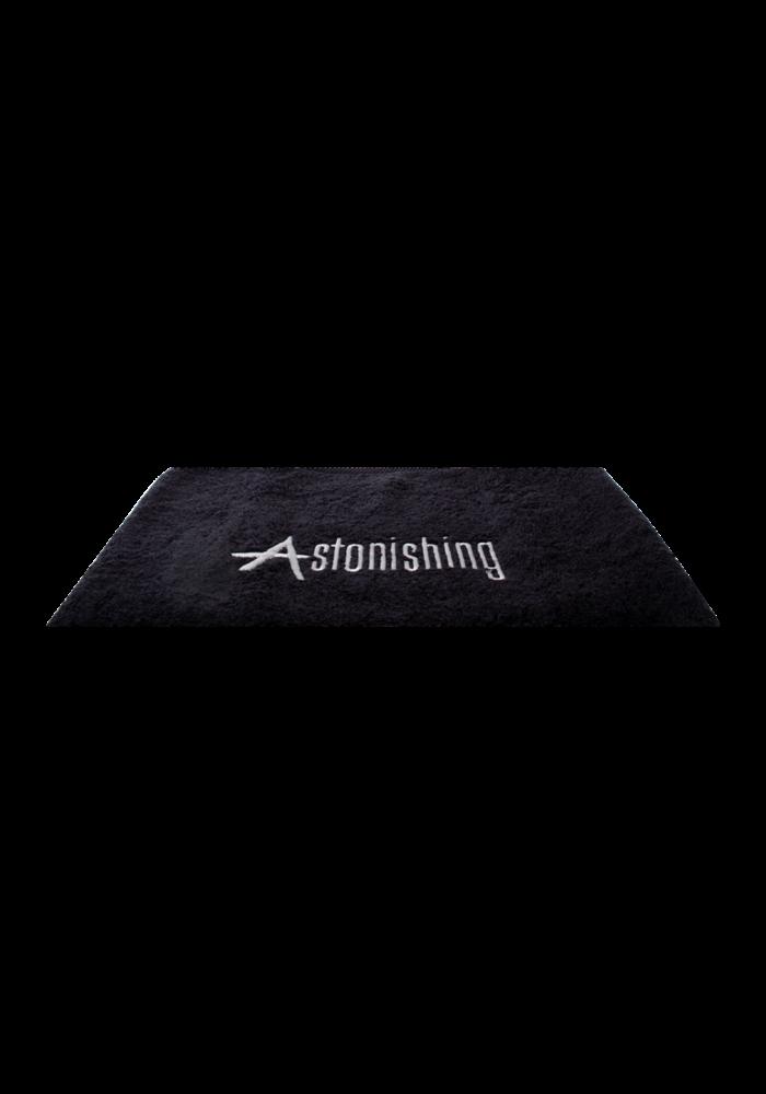 Zwarte handdoek met  Astonishing Logo