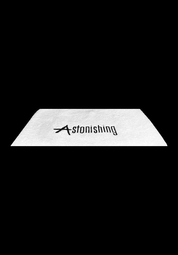 White Towel with Astonishing Logo