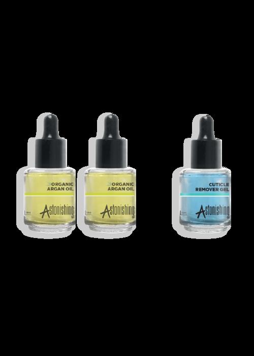 Astonishing 2 x Organic Argan Oil + 1 x Cuticle Remover FREE