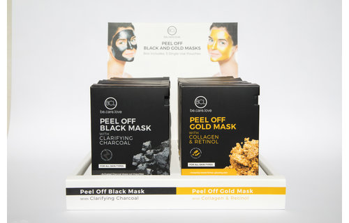 BCL SPA Peel Off Black and Gold Mask Display