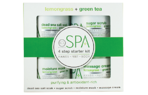 BCL SPA 4 Step Starter Kit Lemongrass + Green Tea