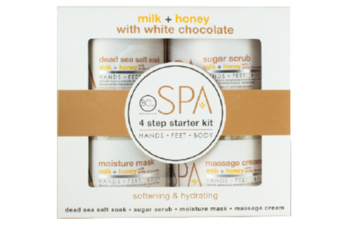 BCL SPA 4 Step Starter Kit Milk + Honey with White Chocolate